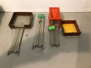 TYCO US1 Electric slot car lot of 3 turnout bins, hoppers