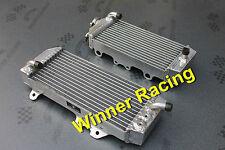 aluminum radiator FOR Kawasaki KX250F 2011-2016 2012 2013 14 Polished Braced