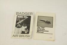 "Badger Model 200 Air Brush Instruction Book / ""Ab� Instruction Manual"