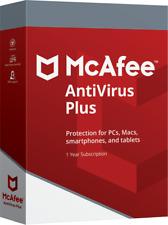 McAfee ANTIVIRUS PLUS 2018 1 PC Windows 10 Activation Code