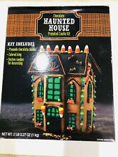 Building Only Expired Chocolate Halloween Haunted House Gingerbread House Kit