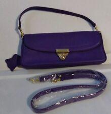 Purple genuine leather handbag Gianni Bernini New