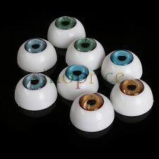 8pcs 20mm Half Round Acrylic Eyes Eyeball for Doll Bear Dollhouse DIY Craft