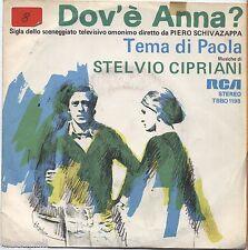 """STELVIO CIPRIANI - Dov'e' Anna - VINYL 7"""" 45 LP 1976 OST NEAR MINT COVER VG-"""