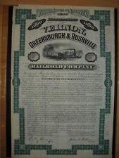 Vernon Greensburgh & Rushville Railroad Company  1880