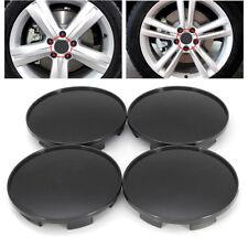 4pcs 68mm Black Wheel Hubs Center Universal Wheel Rim Hub Cover Caps Abs Plastic