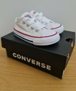 Baby Converse Size 4 White - Retro Classic Style Converse Trainers