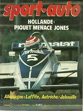 SPORT AUTO N° 224 - SEPTEMBRE 1980 - DEPAILLER - JETTA GLI
