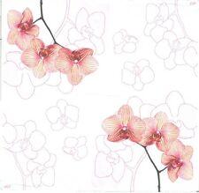 2 Serviettes en papier Fleur Orchidée Decoupage Paper Napkins Orchid