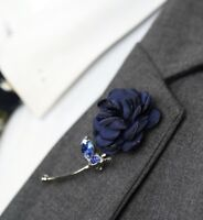 Blue Rose Flower Lapel Pin Enamel Pin Men Women Wedding Favor Suit Brooch Pin
