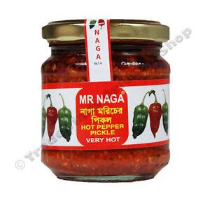 MR NAGA HOT PEPPER PICKLE - 2 X 190G JARS
