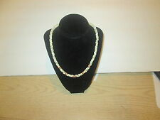 """Vintage necklace. white, gold and pink beads. 18"""""""