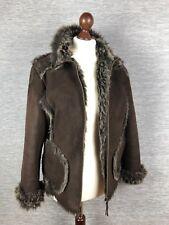 Denim Co Womens Fur Coat Size 12 Brown Jacket