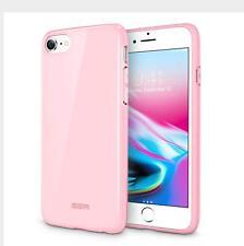 ESR iPhone 7 8 Case Premium Pink Silicone Gel Case Slim Fit Anti Scratch