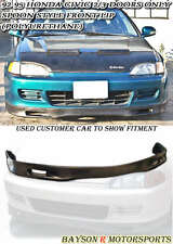 Spn-Style Front Lip (Urethane) Fits 92-95 Honda Civic 2dr