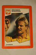 Brisbane Bears - Peter Knights - Stimorol Card.