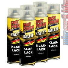 6x 500ml Fast Finish 292859 Klarlack transparent Rallye Lack Spraydose glänzend