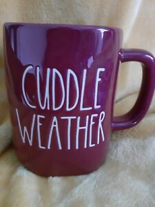 """RAE DUNN ARTISAN COLLECTION BY MAGENTA """"CUDDLE WEATHER"""" MUG, NEW"""