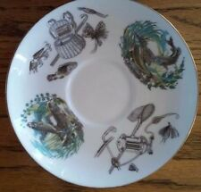 "Fly Fishing Royal Worcester Fine Bone China 6 1/4"" Saucer Plate Made In England"