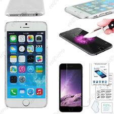 """Coque Housse Etui Rigide Fine Slim Transparent iPhone 6S 4,7"""" +Film Verre Trempé"""