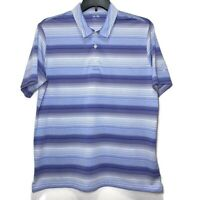 adidas Golf Mens Size Large Striped Short Sleeve Climalite Polo Shirt At&t