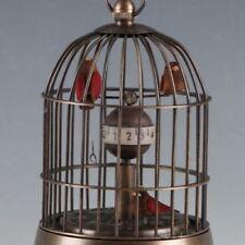 Old European Exquisite Brass Classical Mechanical Birds Clock