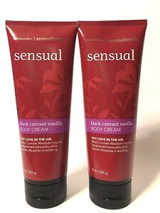 LOT 2 BATH & BODY WORKS AROMATHERAPY BLACK CURRANT VANILLA HAND BODY CREAM 8 OZ