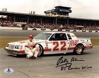 BOBBY ALLISON SIGNED AUTOGRAPHED 8x10 PHOTO + 85 CAREER WINS BECKETT BAS