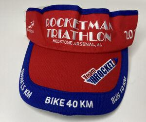 2014 Rocketman Triathlon Visor Hat Cap - Redstone Arsenal, Alabama Headsweats