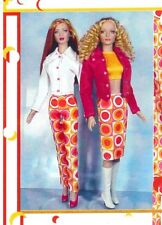 "sew Pattern fits 15.5 and 16"" fashion dolls skirt top jacket pants Tonner Tyler"