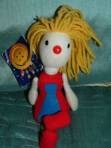 """BUTTON MOON TINA TEASPOON 7.5"""" PLUSH SOFT TOY BY GOLDEN BEAR TAGGED READ DETAILS"""