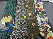 Looney Toons Ties, Including a Bugs Bunny Stamp $0.32 Tie(1995-1999)(Set of 8)