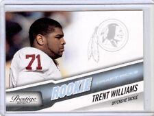 2010 Prestige Draft Picks Light Blue #299 Trent Williams RC Serial #478/999