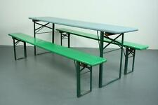 VINTAGE INDUSTRIALE TEDESCO BIRRA tavolo panca set giardino dipinto