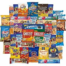 Cookies Chips & Candies Snacks Variety Pack Bulk Sampler Assortment Care Pac...