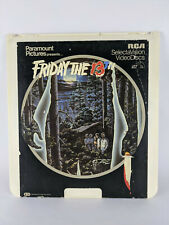 Friday the 13th - CED RCA SelectaVision VideoDisc, Vintage - Great Movie Artwork
