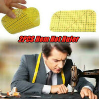 2PCS Ironing Ruler Patchwork Tailor Craft Diy Sewing Supplies Measuring Too