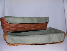 Longaberger Small Serving Tray or Bread Liner Only - Sage - New