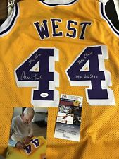 Autographed Jerry West Lakers Jersey W/ Inscriptions JSA Certified Signed