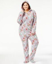 56a928683d Family PJs Womens 1-pc Footed Pajamas Holiday Happy Gnomes Gray 2xlarge
