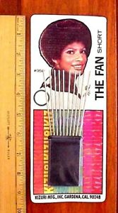 Vintage African-American Woman Metal / Plastic Afro Pick Comb On Display Card