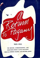 A RETURN TO PAGANY 1929 - 1932