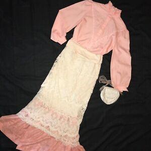 1900 VICTORIAN Edwardian costume size 12 Titanic Music Man stage blouse skirt