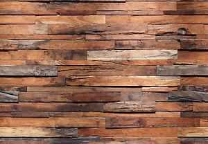 Vlies-Fototapete, WOODEN WALL, 350 x 245cm, Bretterwand, Holz, rustikal, Vlies.