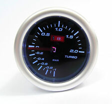 Smoked 52mm Universal Turbo Boost gauge 2 Bar Audi Seat Turbo engines