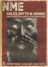 MILES DAVIS 0N THE COVER PAGE 0F NME NEWSPAPER 13/7/1985