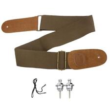 2x Skidproof Strap Lock Straplock for Bass Guitar Accessory w/ Canvas Strap