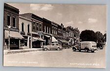 Glenwood Iowa IA John Deere Coke Signs Butterfinger Truck Postcard RPPC 1930-50