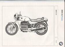 N°10291 ter / BMW K100 plaquette de presse 1983-1984 en 5 langues