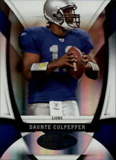 2009 Certified Mirror Blue Detroit Lions Football Card #42 Daunte Culpepper /100